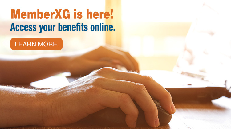 MemberXG is here! Access your benefits online.